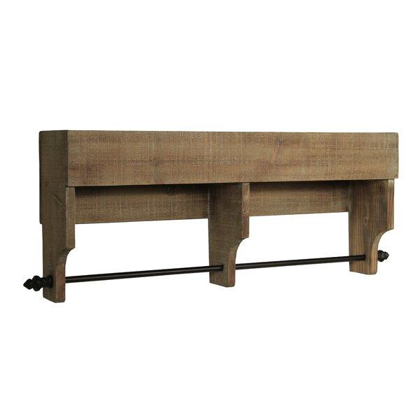 Gracie Oaks Shantel Wood Wall Storage Hanging Rod Shelf Reviews Wayfair