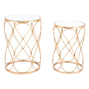 Read Reviews Holsey Twist 2 Piece Nesting Table Set By Mercer41