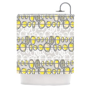 Yellow Gray Single Shower Curtain