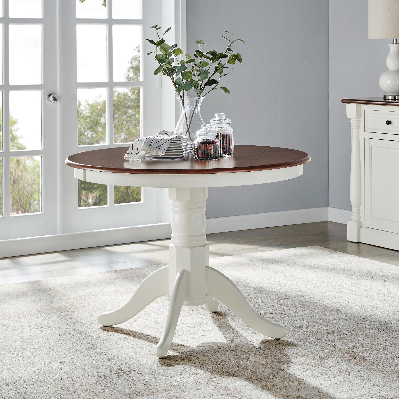 Beachcrest Home Kivalina Round Dining Table Reviews Wayfair