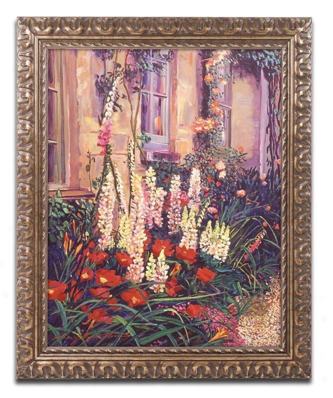 English Cottage Garden By David Lloyd Glover Ornate Framed Painting Print