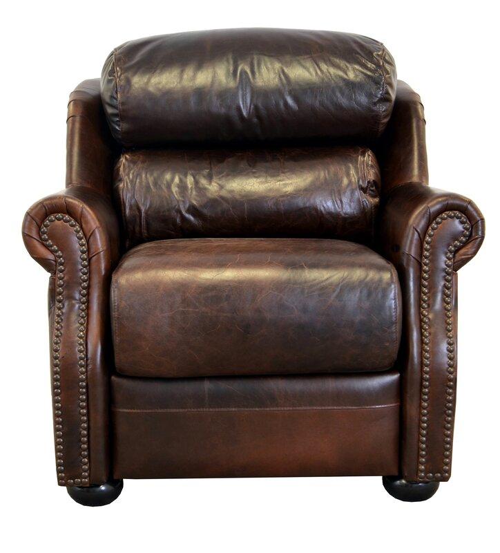 Beacon Genuine Top Grain Leather Club Chair
