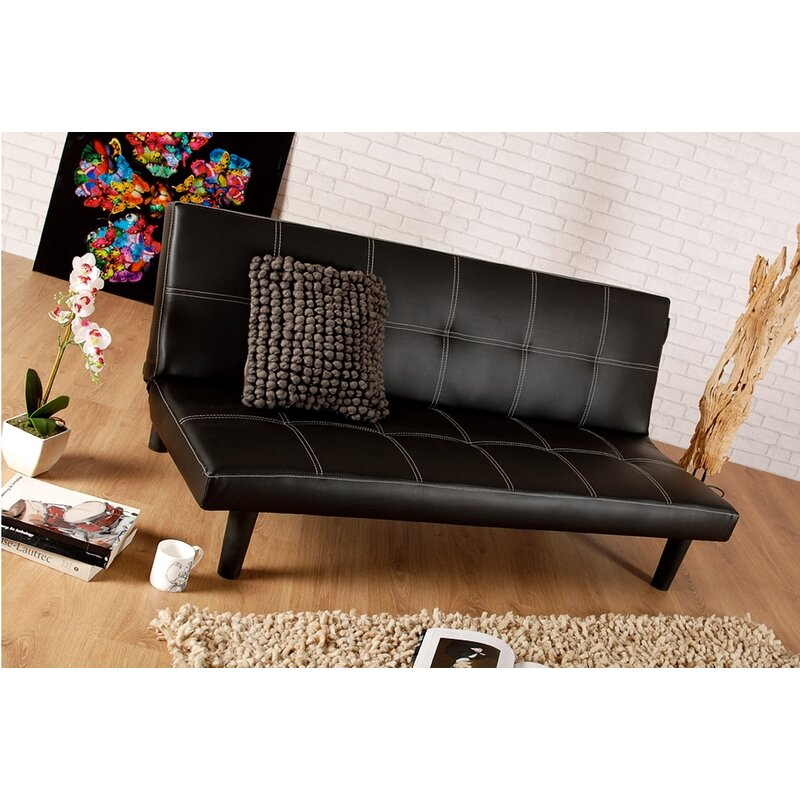 Zipcode Design Bernadine 3 Seater Clic Clac Sofa Bed ...