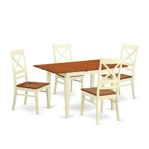 Norfolk 5 Piece Dining Set by Wooden Impo..
