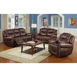 Fassett Reclining 3 Piece Living Room Set by Winston Porter