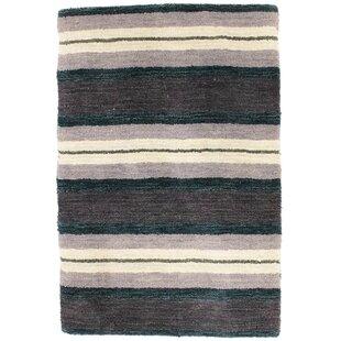 Dansby Handwoven Wool Black/Purple/Grey Indoor/Outdoor Rug By Beachcrest Home