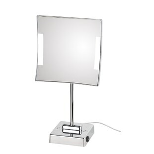 Inexpensive Quadrolo Free Standing LED Magnifying Mirror By WS Bath Collections