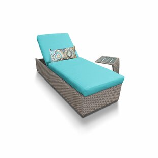 Florence Reclining Chaise Lounge with Cushions and Table