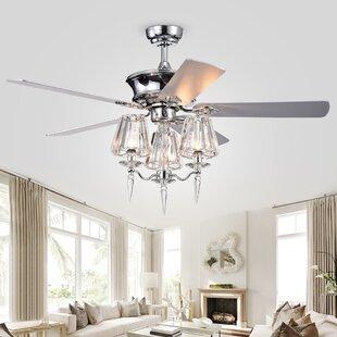 5 Blade Ceiling Fan, Light Kit Included