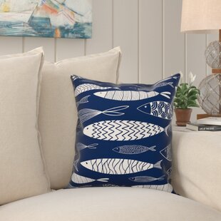 Zambrana School of Fish Outdoor Throw Pillow