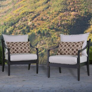 Darby Home Co Portsmouth Club Chair with Cushions (Set of 2)