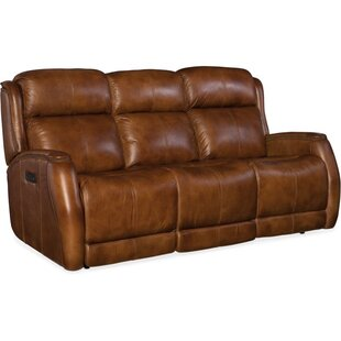Emerson Leather Reclining Sofa by Hooker Furniture Sale