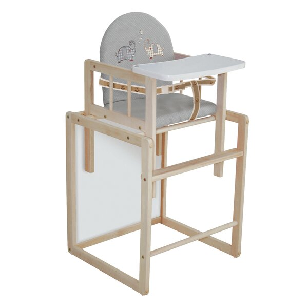 Kombihochstuhl Holz Hochstuhl 2-teilig Tisch Stuhl Kinderhochstuhl Roba Baby