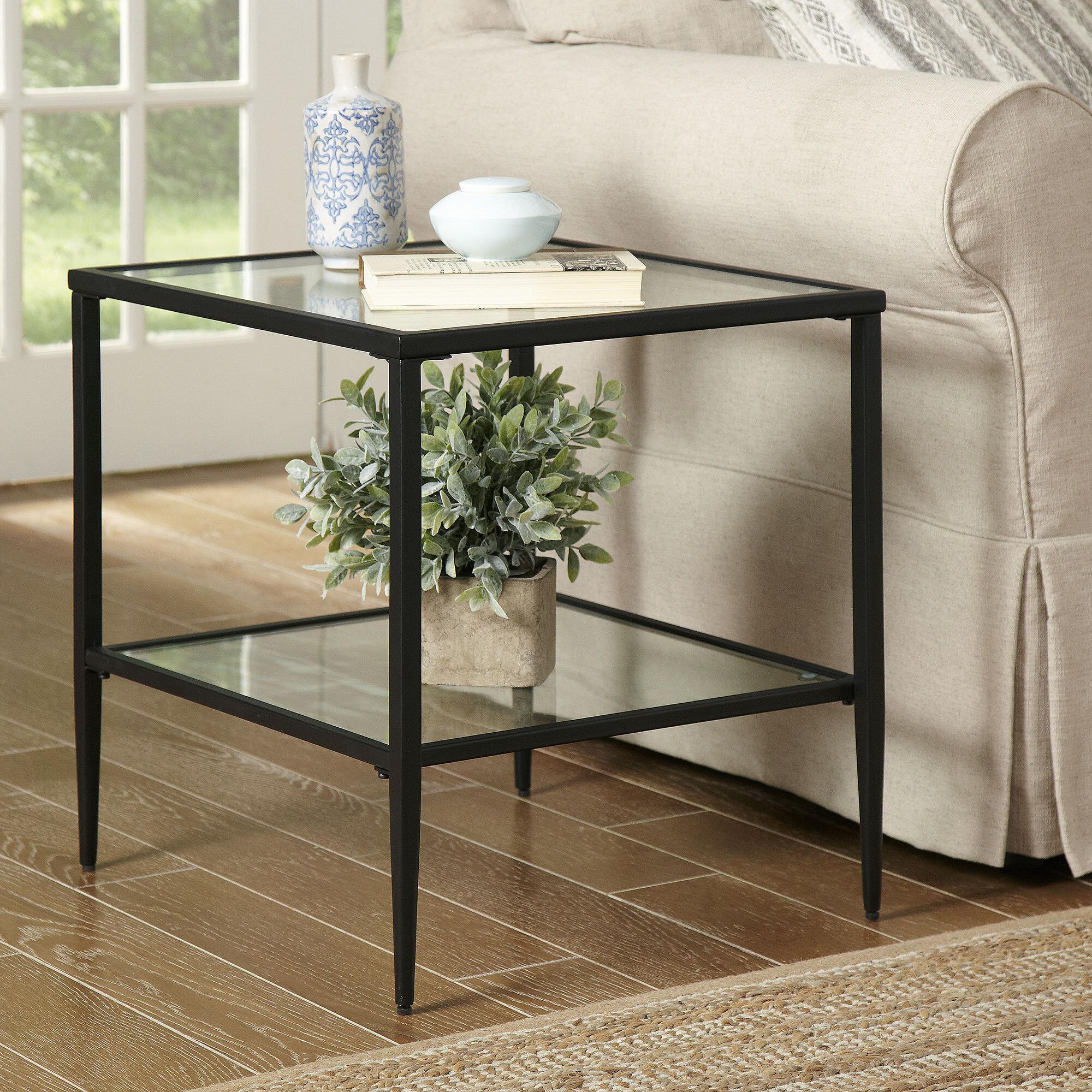 Birch Lane Heritage Harlan Double Shelf Side Table Reviews
