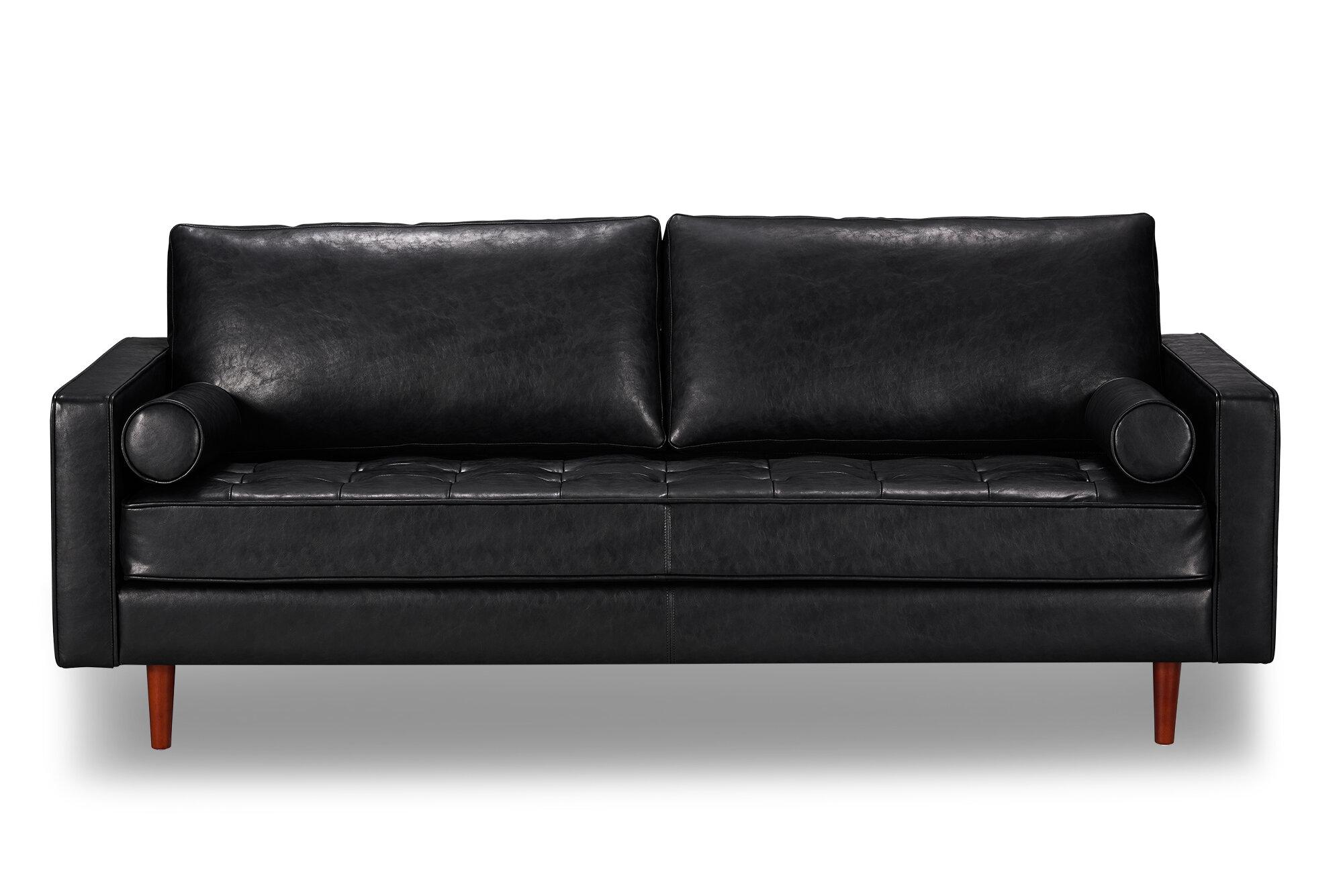 Bombay Leather Sofa & Reviews   AllModern