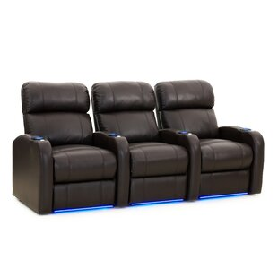 Solid Wood Home Theatre Lounger (Row of 3) by Latitude Run