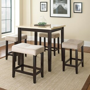 Skeens 5 Piece Counter Height Dining Set Red Barrel Studio