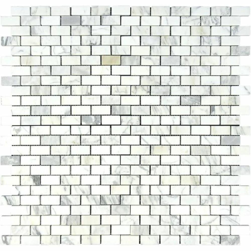 Tile Mosaic Depot 1 X 2 Marble Brick Joint Mosaic Wall Floor Tile Wayfair