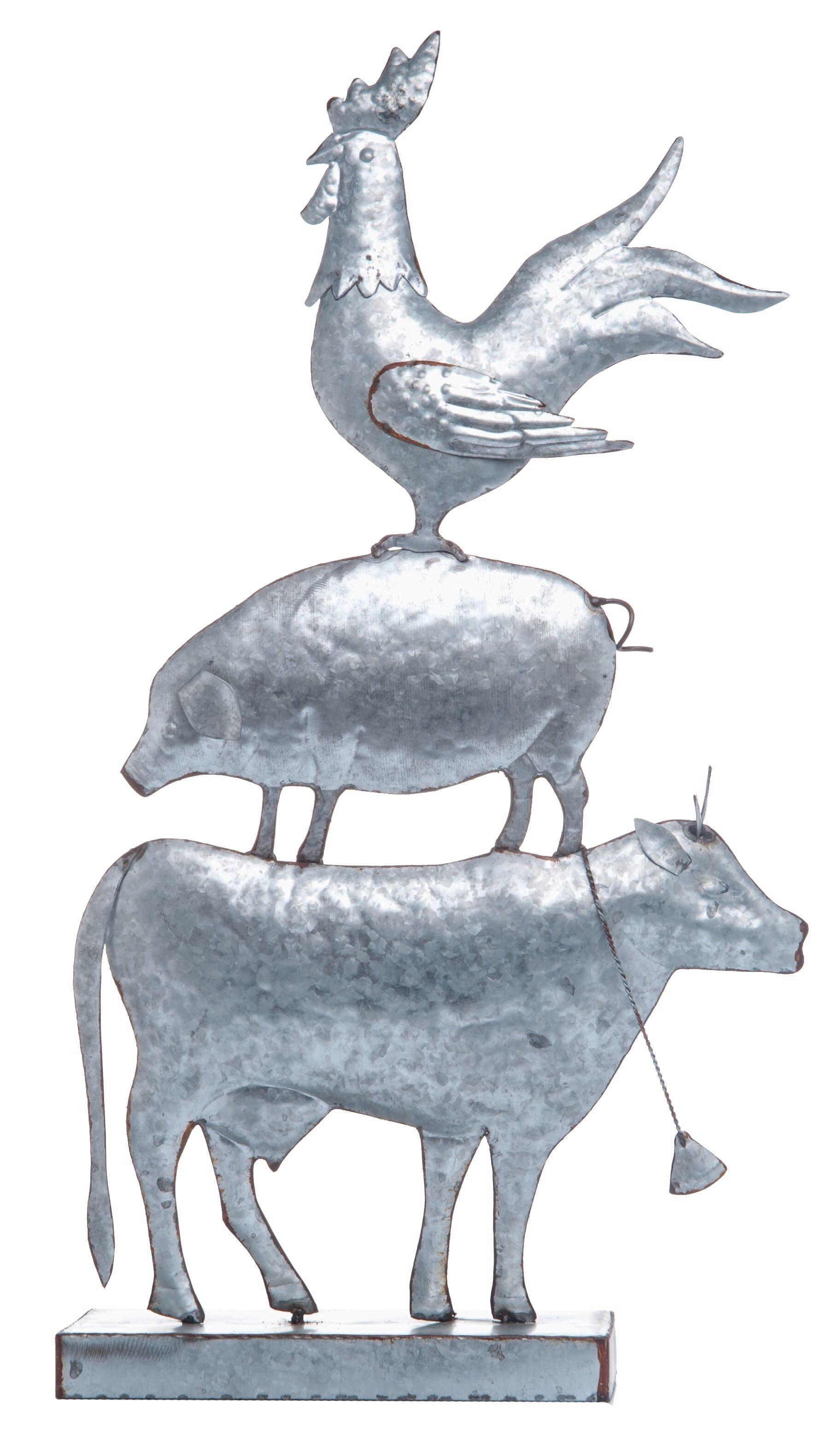 Standing Sheep Statue Farm Animal Sculpture Decor