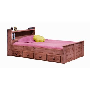 Chiu Twin Mates  Captains Bed with Bookcase Headboard and Storage