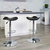 Tristan Swivel Adjustable Height Bar Stool (Set of 2) by Wrought Studio™