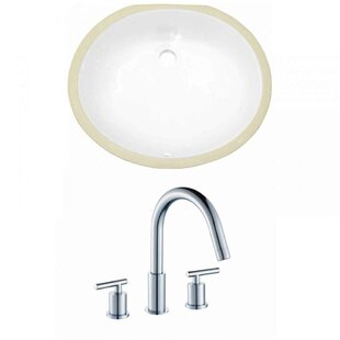 Best Reviews CUPC Ceramic Oval Undermount Bathroom Sink with Faucet and Overflow By Royal Purple Bath Kitchen