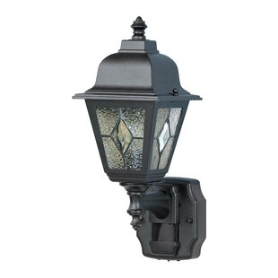 Gilman Die-Cast Metal Outdoor Wall Lantern with Motion Sensor By World Menagerie Outdoor Lighting