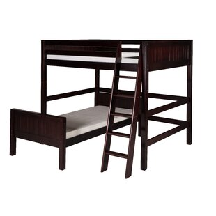 Oakwood Twin over Twin L-Shape Wood Bunk Bed