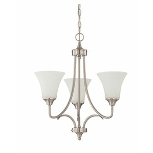 Charlton Home Fiala 3-Light Shaded Chandelier