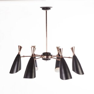 Stilnovo 6-Light Shaded Chande..