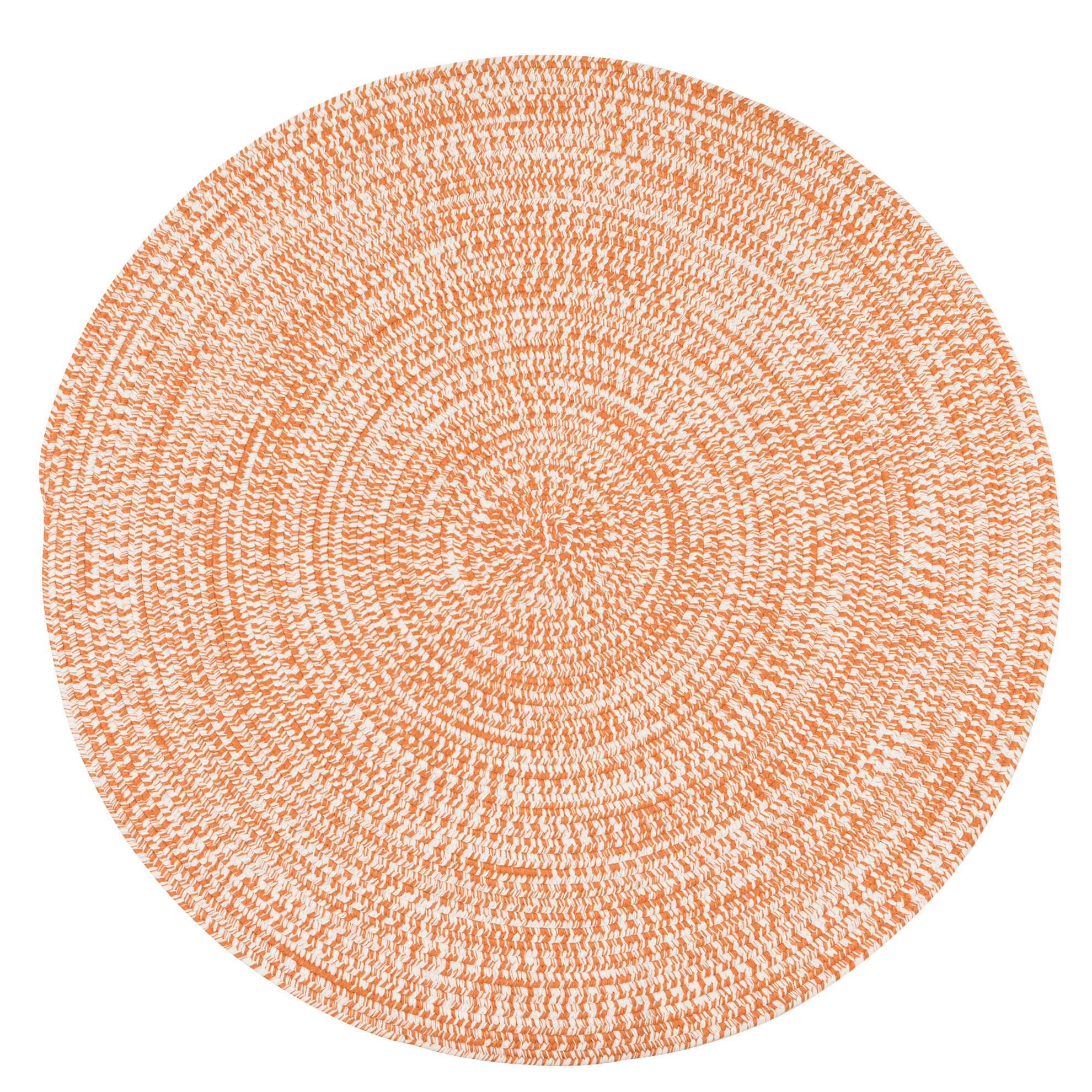 Longe Tweed Hand Braided Rusted Orange