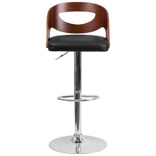 Wrought Studio Evan Adjustable Height Swivel Bar Stool