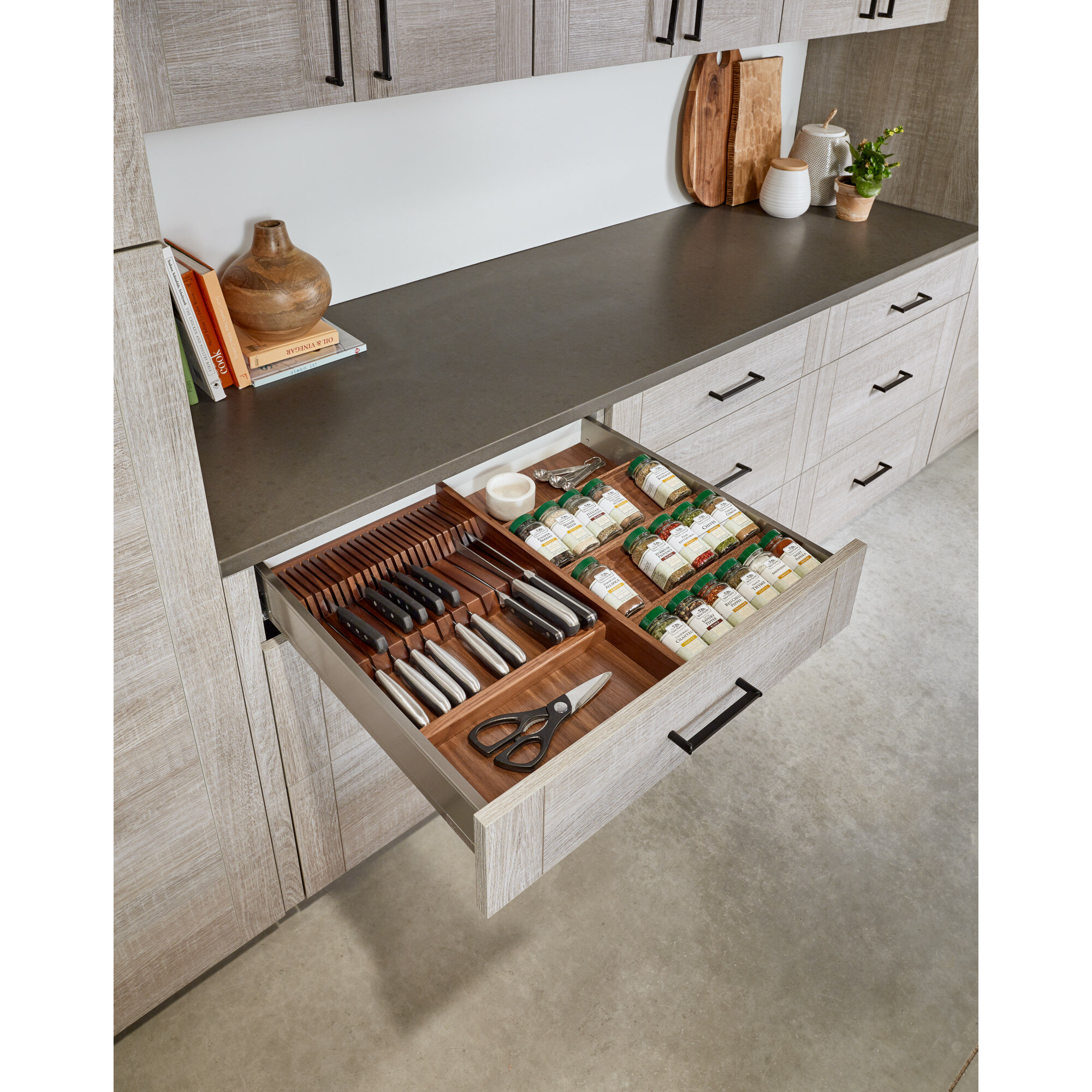 Wood E Adjule Drawer Organizer