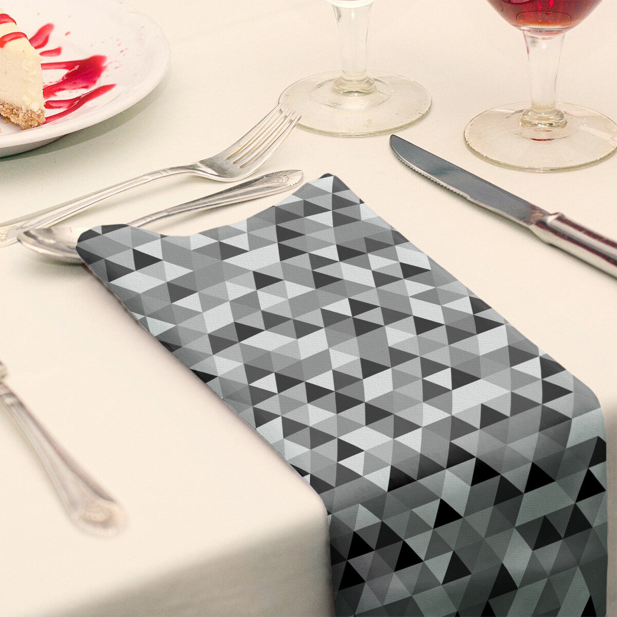 East Urban Home Triangle Pattern Cotton Napkin Wayfair
