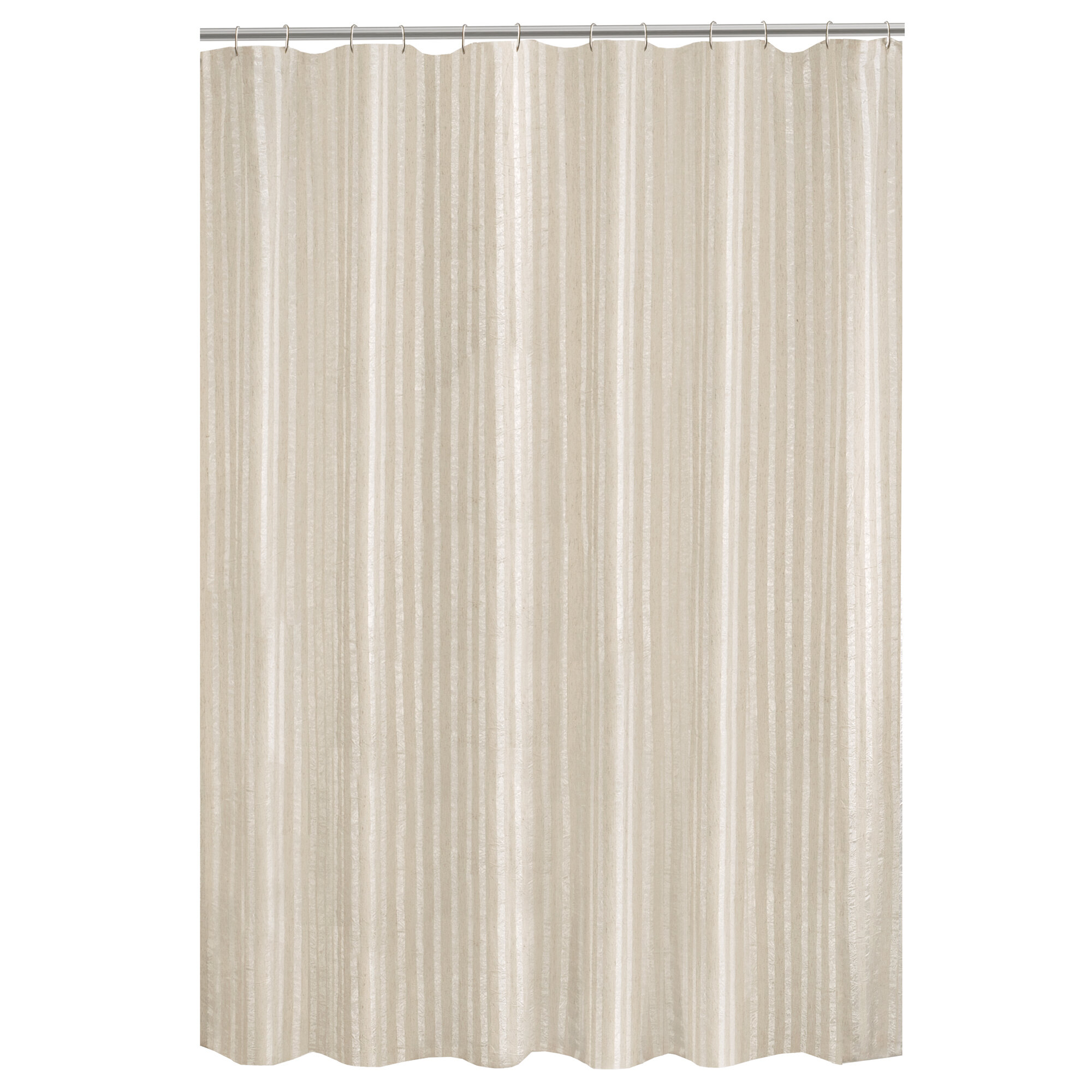 Darell Linen Stripe Fabric Single Shower Curtain