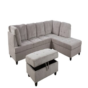 Genet Wynn 35 Right Hand Facing Sectional with Ottoman by Latitude Run