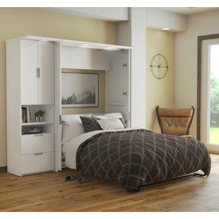 Latitude Run Juniper Murphy Bed and Storage Unit