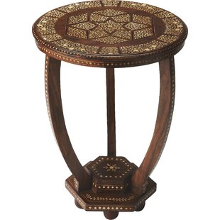 Bungalow Rose Ouitchambo Bone Inlay End Table