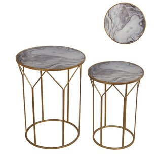 Baez 2 Piece End Table Set by Mercer41