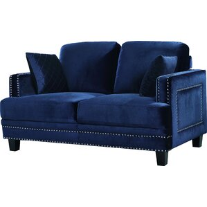 Dia Nailhead Loveseat by W..