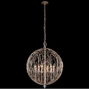 Bask Orb 6 Light Globe Chandelier