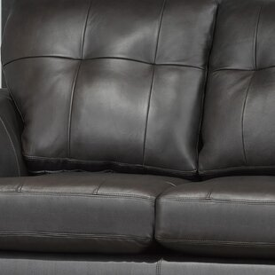 Orren Ellis Cowhill Leather Loveseat