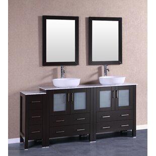 Sheffield 71 Double Bathroom Vanity Set with Mirror