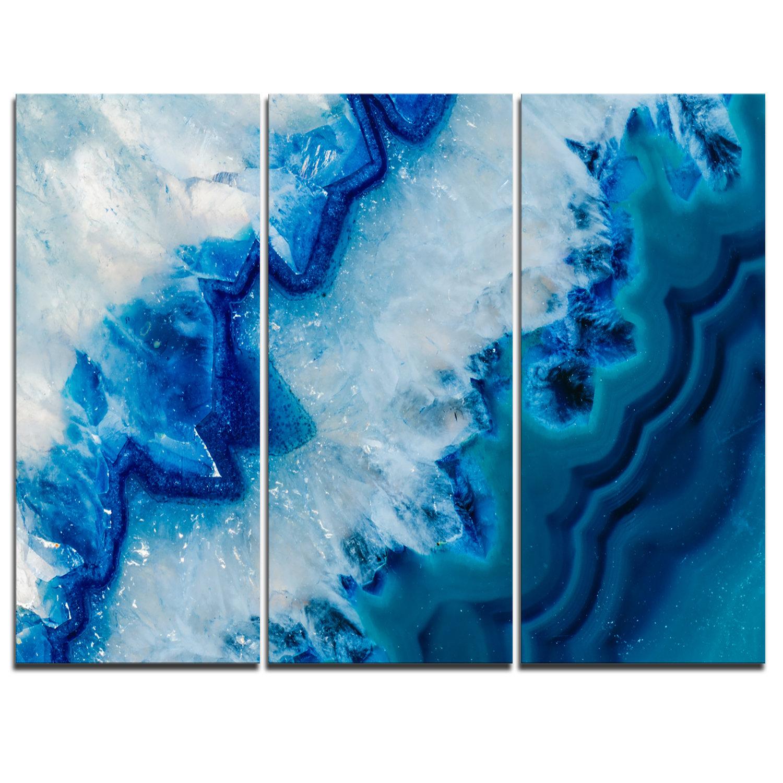 Designart Geode Slice Macro 3 Piece Graphic Art On Wrapped Canvas Set Wayfair