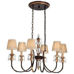 Metropolitan by Minka Bella Cristallo 6-Light Shaded Chandelier