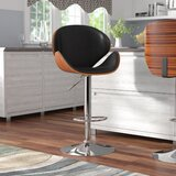 Deshazo Swivel Adjustable Height  Bar Stool by Wade Logan®