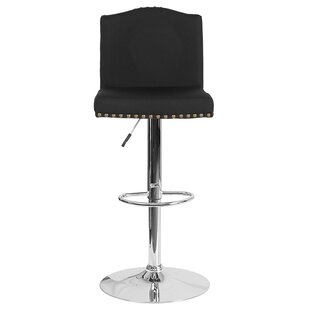 Prasad Adjustable Height Swivel Bar Stool by Winston Porter