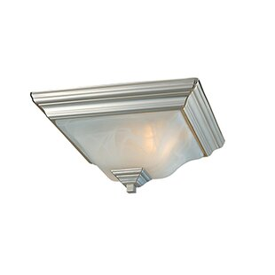 Read Reviews Wadhurst 2-Light Flush Mount By Fleur De Lis Living
