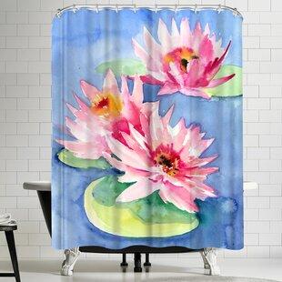 Suren Nersisyan Lotuses 1 Single Shower Curtain