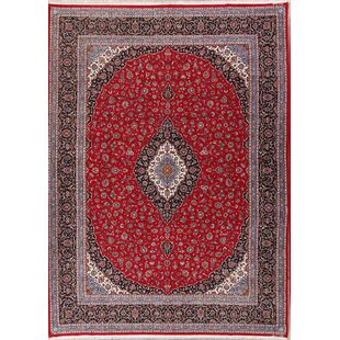Searching for Spring Street Soft Plush Floral Kerman Persian Blue/Black Area Rug ByWorld Menagerie